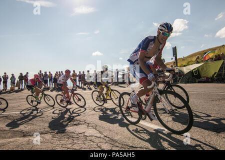 Jacopo Guarnieri Tour de France 2018 cycling stage 11 La Rosiere Rhone Alpes Savoie France - Stock Image