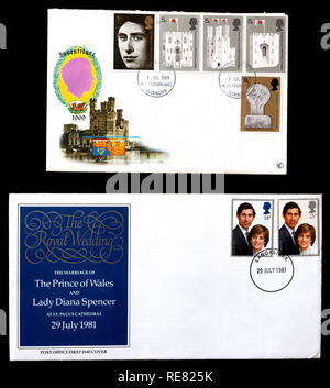 UK first day cover. - Stock Image