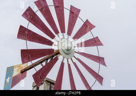 Texas themed windmil - Stock Image