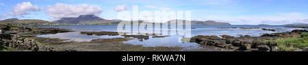 Panoramic view of Broadford Bay, Isle of Skye, Scotland, UK - Stock Image