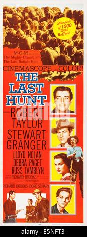 THE LAST HUNT, Robert Taylor, Debra Paget, Stewart Granger, 1956 - Stock Image
