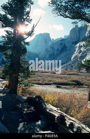 Bighorn Park on the Mount Whitney Trail, Sierra Nevada, California - Stock Image