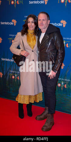 London, United Kingdom. 16 January 2019. Chris Moyles arrives for the red carpet premiere of Cirque Du Soleil's 'Totem' held at The Royal Albert Hall. Credit: Peter Manning/Alamy Live News - Stock Image