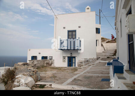 Greece, Cyclades islands, Serifos, Old Town (Chora) - Stock Image