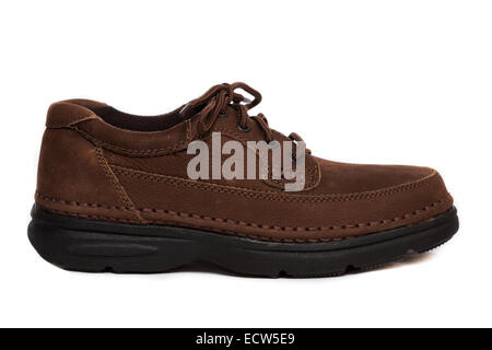 Profile of an oxford style shoe - Stock Image