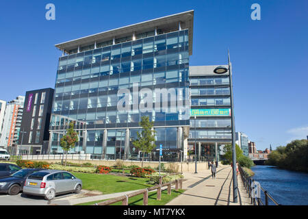 Modern Office Block Building Leeds City Centre West Yorkshire UK - Stock Image