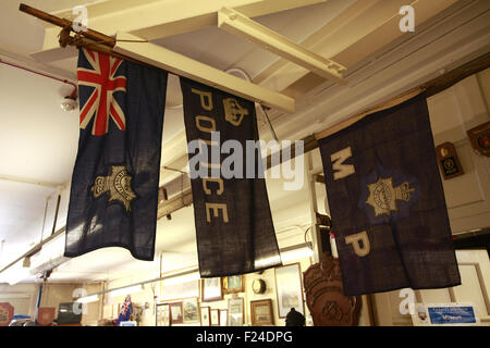 The Thames Police Museum at Wapping Police station on the bank of the River Thames in London England - Stock Image