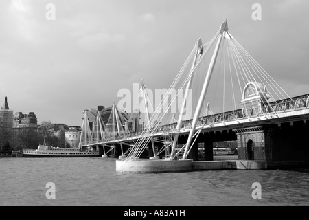 Hungerford bridge London - Stock Image