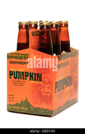 Tommyknocker Brewery Small Patch Pumpkin Harvest Ale - Stock Image