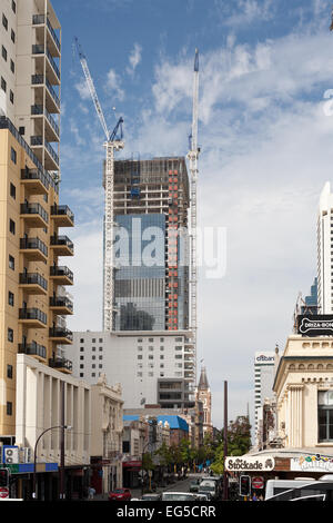 Construction of a new 33 level office complex on the corner of Barrack and Hay streets. Perth, Western Australia. - Stock Image