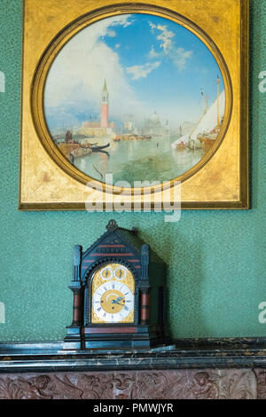 Liverpool Mossley Hill Victorian home Sudley House built 1821 completed George Holt now museum original art collection Saints Day at Venice 1847 - Stock Image