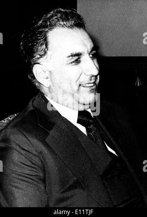 Nov 26, 1979; Kabul, Afghanistan; Portrait of the General Secretary of the central Committee of the Democratic popular Party of - Stock Image