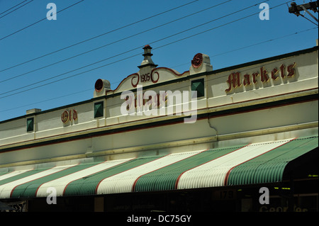 Facade of row of shops making up 'Old Village Market' in Guildford, Western Australia - Stock Image