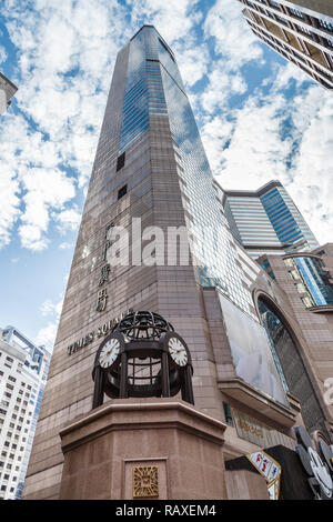 Times Square, Causeway Bay, the first vertical mall in  Hong Kong - Stock Image