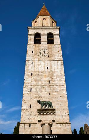 Italy, Friuli Venezia Aquilee, Aquileia, Patriarchal Basilica of Santa Maria Assunta - Stock Image