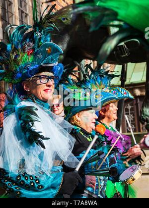 Samba Carnival in Bremen, Germany, Europe - Stock Image