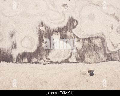 Sedimentary natural picture in yellow sand. Can be used as background - Stock Image
