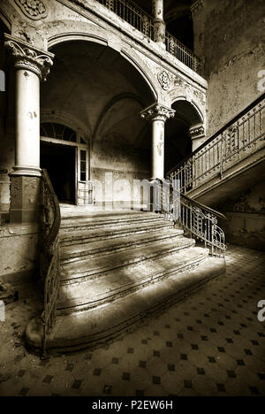 Beelitz Sanatorium, Sanatorium, Hospital, Leaving, Beelitz, Brandenburg, Germany - Stock Image