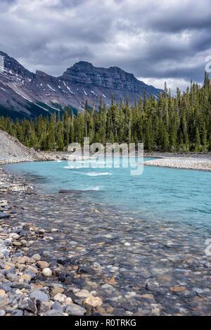 Icefields Parkway, Jasper National Park, Alberta, Canada - Stock Image