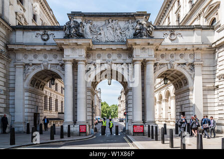 London, UK - May 15, 2019: Arch in King Charles Street besides Foreign and Commonwealth Office - Stock Image