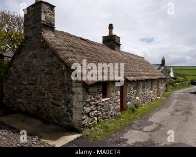RS 8062  Quirk's Croft, Cregneash, Isle of Man, UK - Stock Image