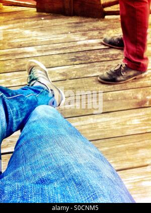 Chillin on porch - Stock Image