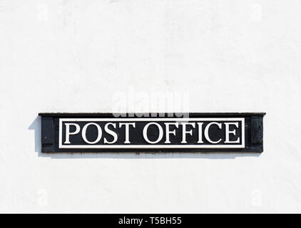 Sign - Post Office - England UK - Stock Image