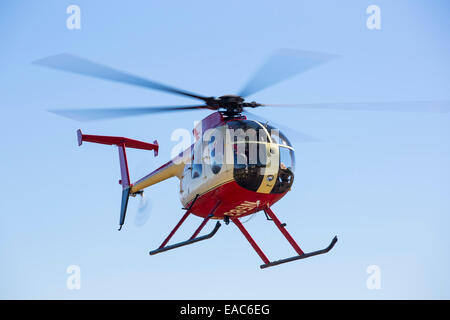 A helicopter in the El Dorado National forest, California, USA. - Stock Image