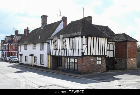 Uckfield East Sussex England UK - Picturesque homes in the town   Photograph taken by Simon Dack - Stock Image
