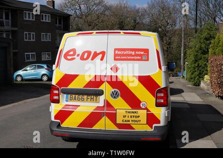 Back of e-on van - Stock Image