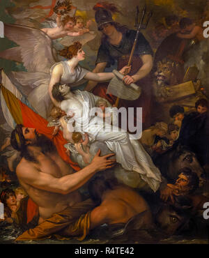The Immortality of Nelson, Benjamin West, 1807, - Stock Image