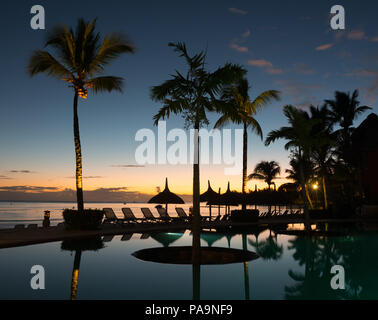 sunset in paradise - Stock Image