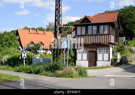 Ehemalige Fahrkartenverkaufsstelle, Wernigerode, Deutschland. - Former ticket agency, Wernigerode, Germany. - Stock Image