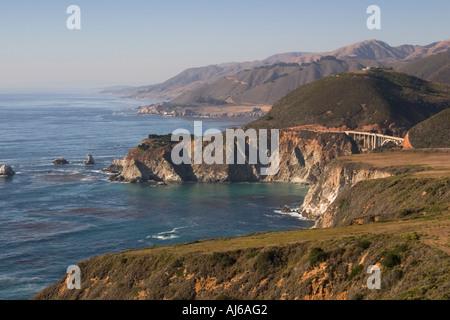 Big Sur coastline along Highway 1 California USA - Stock Image