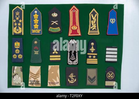 February 18, 2019 - Abu Dhabi, UAE: Generic Navy / army uniform shoulder strap at display - Stock Image