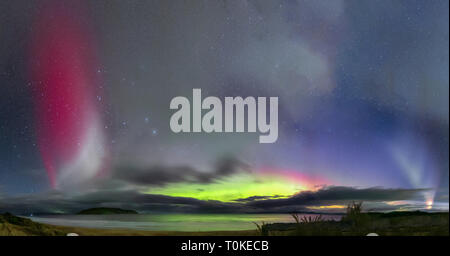 STEVE and the Aurora Australis or Southern Lights - Stock Image