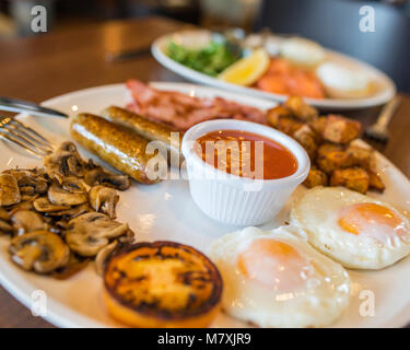 Breakfast, Brunch and Lunch - Stock Image