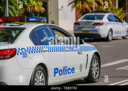 New South Wales police cars vehicles parked in Sydney,Australia - Stock Image