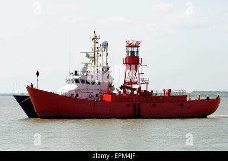 Trinity House lightship Harwich Essex UK - Stock Image