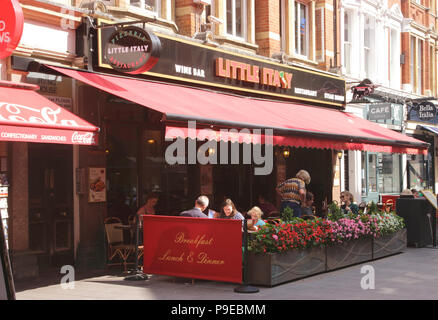 Little Italy restaurant Irving Street off Leicester Square London September 2017 - Stock Image