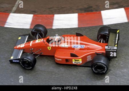 1988 Gerhard Berger Austrian Ferrari F187/88C 2nd Monaco GP - Stock Image