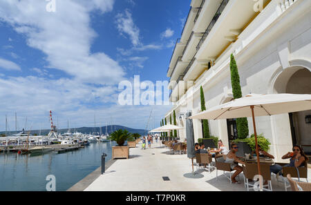The beautiful Porto Montenegro in Tivat. - Stock Image