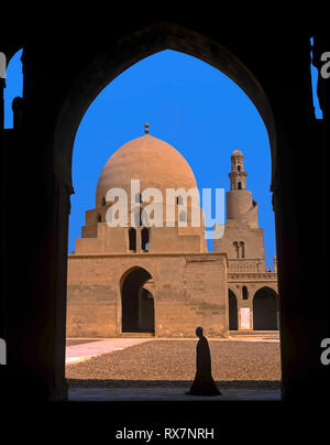 Ibn Tulun Mosque -9th century, Cairo, Egypt, Africa - Stock Image