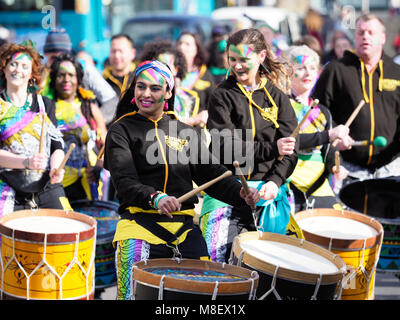 St Patricks Day Parade in Liverpool.UK 17th March 2018 - Stock Image