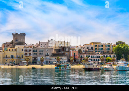 Forio is the second major town of Ischia, Italy - Stock Image