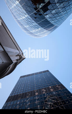 High rise office buildings in London, England, UK - Stock Image
