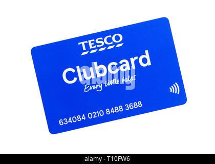 Tesco Clubcard, United Kingdom - Stock Image