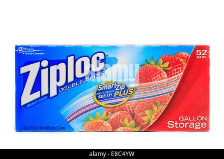 Ziploc gallon storage bags - Stock Image