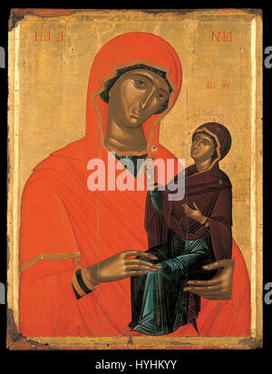 Chanter Angelos Akotandos   St Anne with the Virgin   Google Art Project - Stock Image