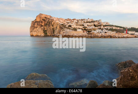 Peschici, Gargano Peninsula, Apulia, Puglia, Southern Italy - Stock Image